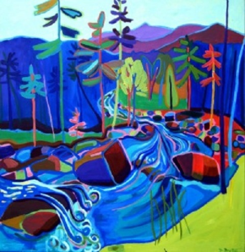 """Spring Thaw"" / Acrylic on Canvas by Debra Bretton Robinson ©Copyright 2015, Debra Bretton Robinson"